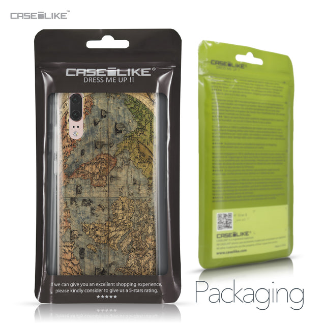 Huawei P20 case World Map Vintage 4608 Retail Packaging | CASEiLIKE.com