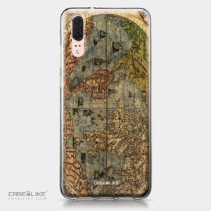 Huawei P20 case World Map Vintage 4608 | CASEiLIKE.com