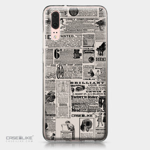 Huawei P20 case Vintage Newspaper Advertising 4818 | CASEiLIKE.com