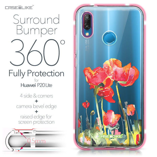 Huawei P20 Lite case Watercolor Floral 2230 Bumper Case Protection | CASEiLIKE.com
