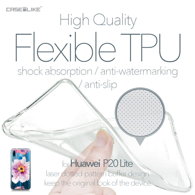Huawei P20 Lite case Watercolor Floral 2231 Soft Gel Silicone Case | CASEiLIKE.com