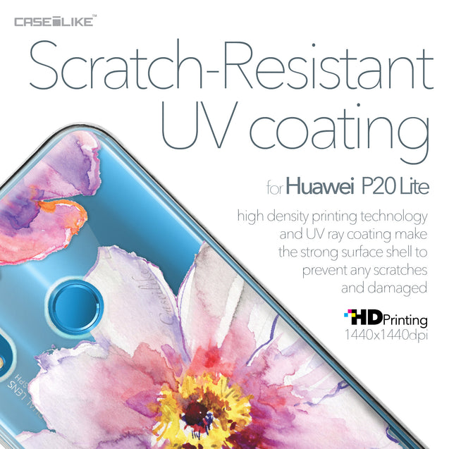 Huawei P20 Lite case Watercolor Floral 2231 with UV-Coating Scratch-Resistant Case | CASEiLIKE.com