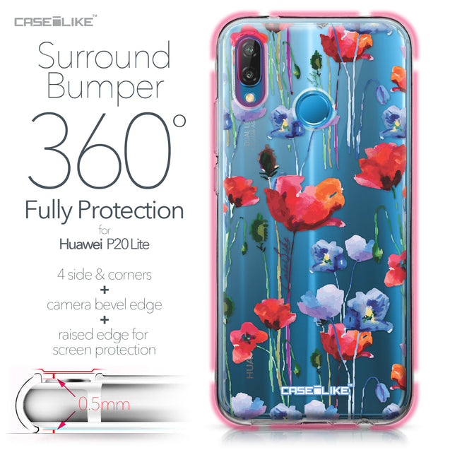 Huawei P20 Lite case Watercolor Floral 2234 Bumper Case Protection | CASEiLIKE.com
