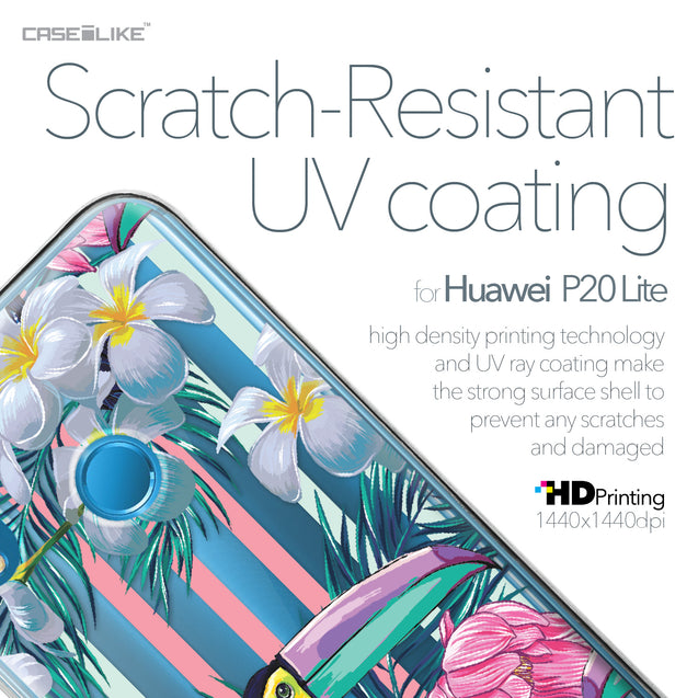Huawei P20 Lite case Tropical Floral 2240 with UV-Coating Scratch-Resistant Case | CASEiLIKE.com