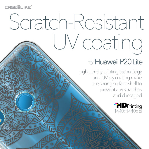 Huawei P20 Lite case Mandala Art 2304 with UV-Coating Scratch-Resistant Case | CASEiLIKE.com