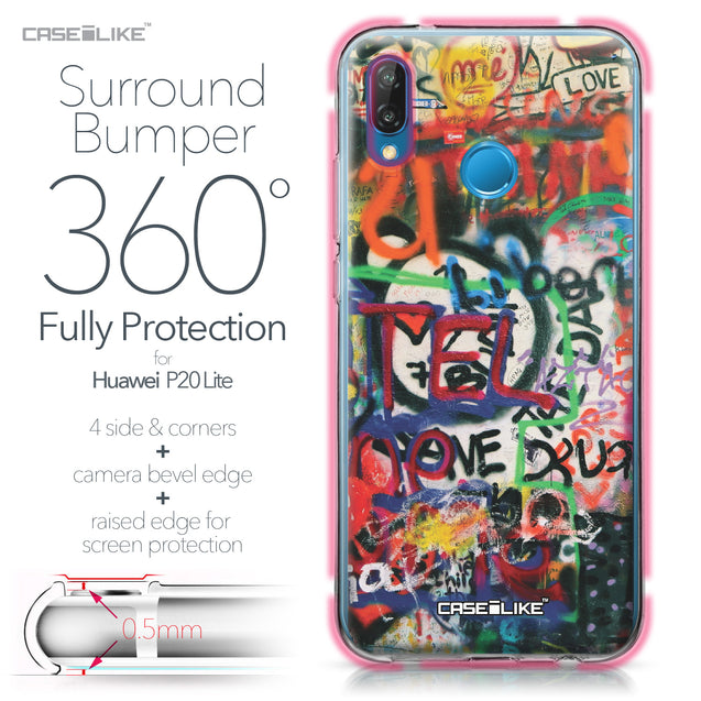 Huawei P20 Lite case Graffiti 2721 Bumper Case Protection | CASEiLIKE.com