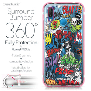 Huawei P20 Lite case Comic Captions 2914 Bumper Case Protection | CASEiLIKE.com