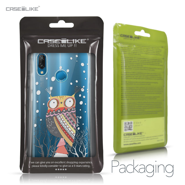 Huawei P20 Lite case Owl Graphic Design 3317 Retail Packaging | CASEiLIKE.com