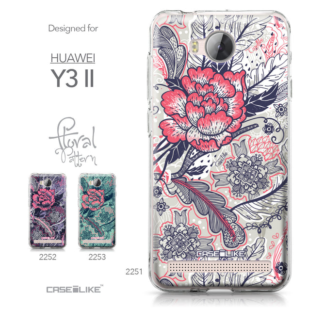 Huawei Y3 II case Vintage Roses and Feathers Beige 2251 Collection | CASEiLIKE.com