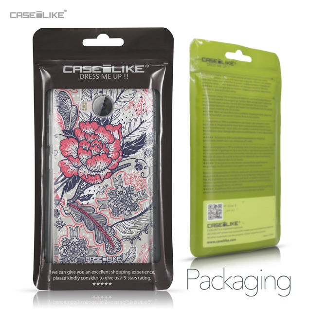 Huawei Y3 II case Vintage Roses and Feathers Beige 2251 Retail Packaging | CASEiLIKE.com