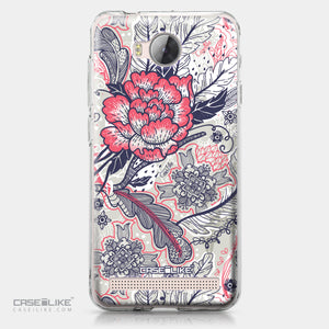 Huawei Y3 II case Vintage Roses and Feathers Beige 2251 | CASEiLIKE.com