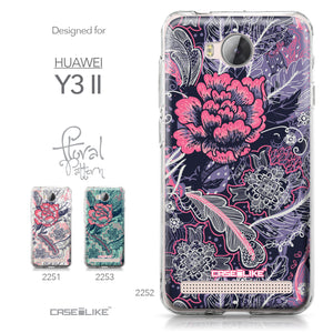 Huawei Y3 II case Vintage Roses and Feathers Blue 2252 Collection | CASEiLIKE.com