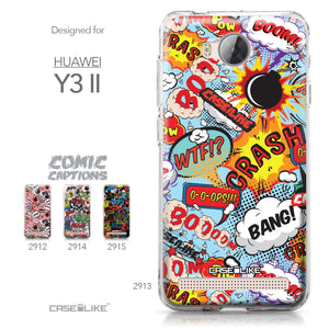 Huawei Y3 II case Comic Captions Blue 2913 Collection | CASEiLIKE.com