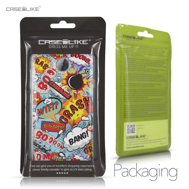 Huawei Y3 II case Comic Captions Blue 2913 Retail Packaging | CASEiLIKE.com