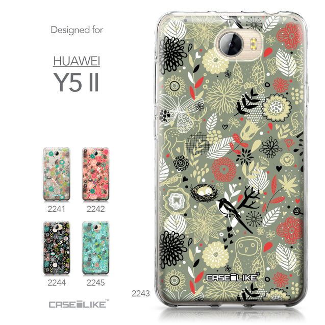 Huawei Y5 II / Y5 2 / Honor 5 / Honor Play 5 / Honor 5 Play case Spring Forest Gray 2243 Collection | CASEiLIKE.com