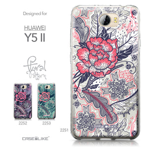 Huawei Y5 II / Y5 2 / Honor 5 / Honor Play 5 / Honor 5 Play case Vintage Roses and Feathers Beige 2251 Collection | CASEiLIKE.com