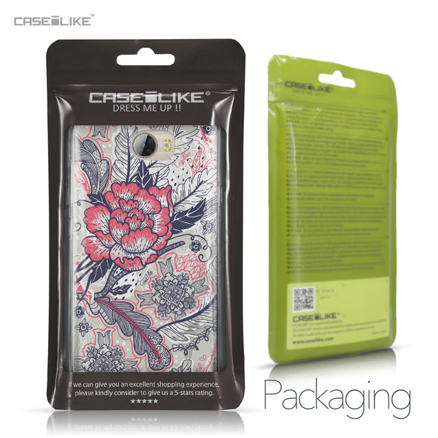 Huawei Y5 II / Y5 2 / Honor 5 / Honor Play 5 / Honor 5 Play case Vintage Roses and Feathers Beige 2251 Retail Packaging | CASEiLIKE.com