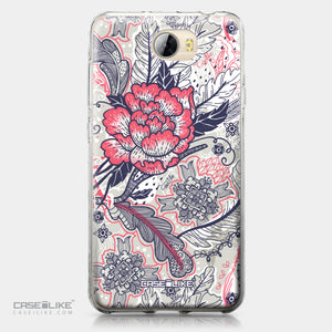 Huawei Y5 II / Y5 2 / Honor 5 / Honor Play 5 / Honor 5 Play case Vintage Roses and Feathers Beige 2251 | CASEiLIKE.com