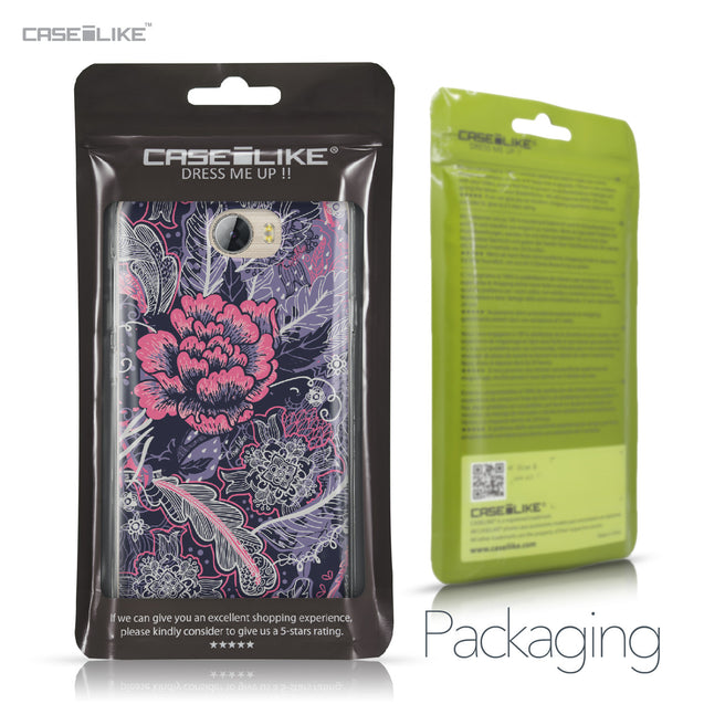 Huawei Y5 II / Y5 2 / Honor 5 / Honor Play 5 / Honor 5 Play case Vintage Roses and Feathers Blue 2252 Retail Packaging | CASEiLIKE.com