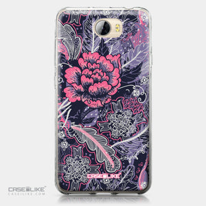 Huawei Y5 II / Y5 2 / Honor 5 / Honor Play 5 / Honor 5 Play case Vintage Roses and Feathers Blue 2252 | CASEiLIKE.com