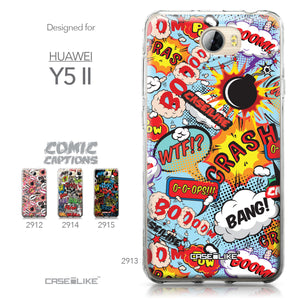 Huawei Y5 II / Y5 2 / Honor 5 / Honor Play 5 / Honor 5 Play case Comic Captions Blue 2913 Collection | CASEiLIKE.com