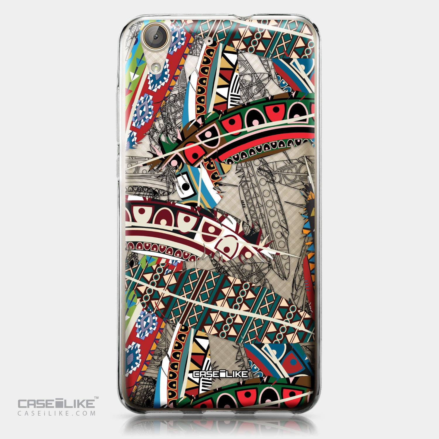 Huawei Y6 II / Honor Holly 3 case Indian Tribal Theme Pattern 2055