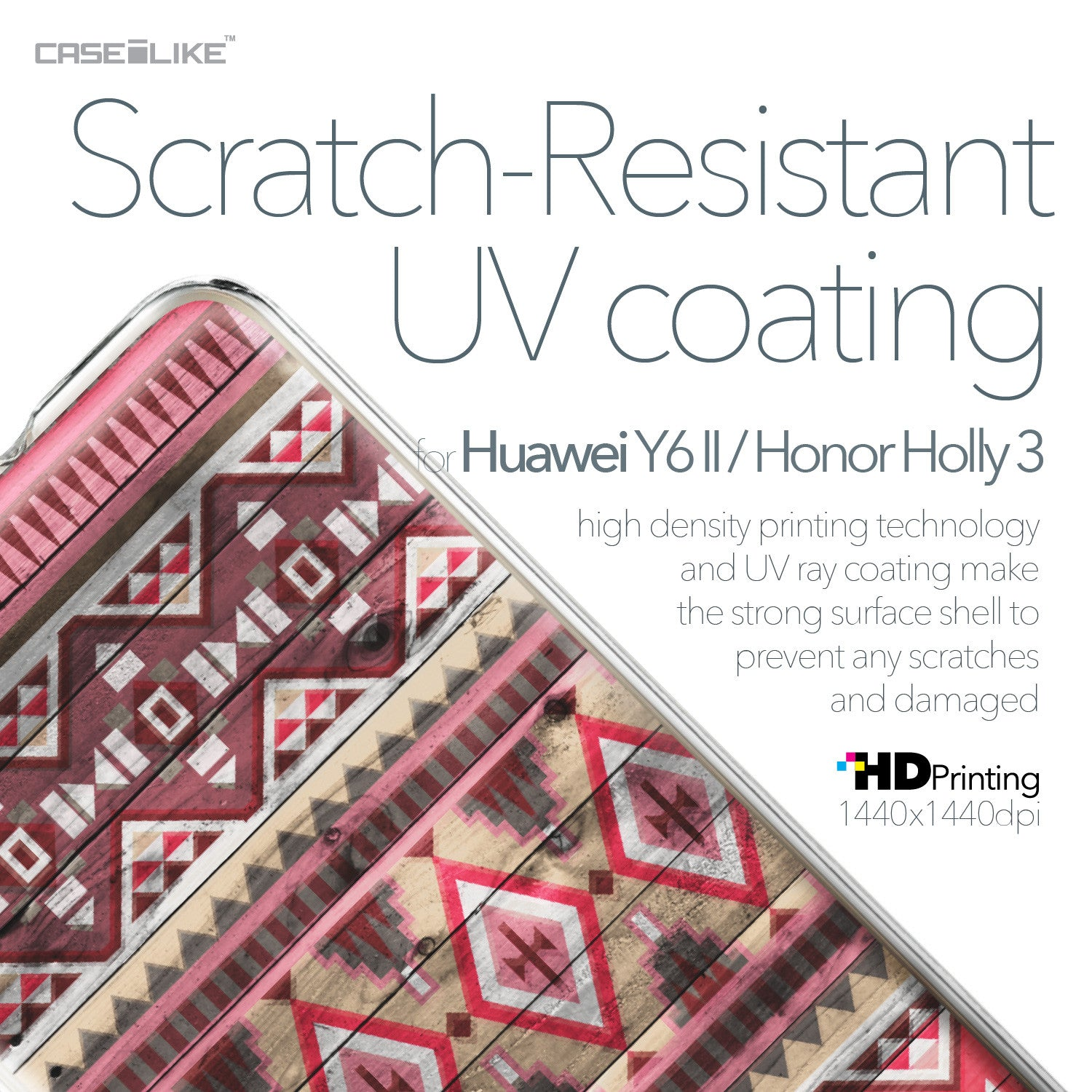 Huawei Y6 II / Honor Holly 3 case Indian Tribal Theme Pattern 2057