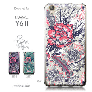 Huawei Y6 II / Honor Holly 3 case Vintage Roses and Feathers Beige 2251 Collection | CASEiLIKE.com