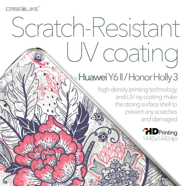 Huawei Y6 II / Honor Holly 3 case Vintage Roses and Feathers Beige 2251 with UV-Coating Scratch-Resistant Case | CASEiLIKE.com