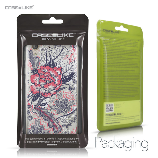 Huawei Y6 II / Honor Holly 3 case Vintage Roses and Feathers Beige 2251 Retail Packaging | CASEiLIKE.com