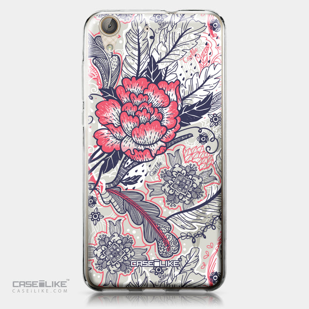 Huawei Y6 II / Honor Holly 3 case Vintage Roses and Feathers Beige 2251 | CASEiLIKE.com