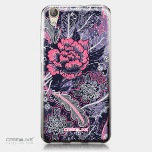 Huawei Y6 II / Honor Holly 3 case Vintage Roses and Feathers Blue 2252 | CASEiLIKE.com