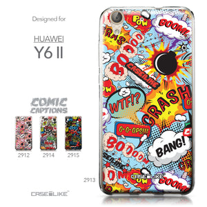Huawei Y6 II / Honor Holly 3 case Comic Captions Blue 2913 Collection | CASEiLIKE.com