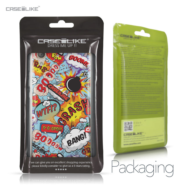 Huawei Y6 II / Honor Holly 3 case Comic Captions Blue 2913 Retail Packaging | CASEiLIKE.com