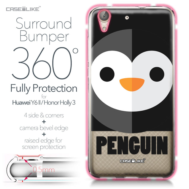 Huawei Y6 II / Honor Holly 3 case Animal Cartoon 3640 Bumper Case Protection | CASEiLIKE.com