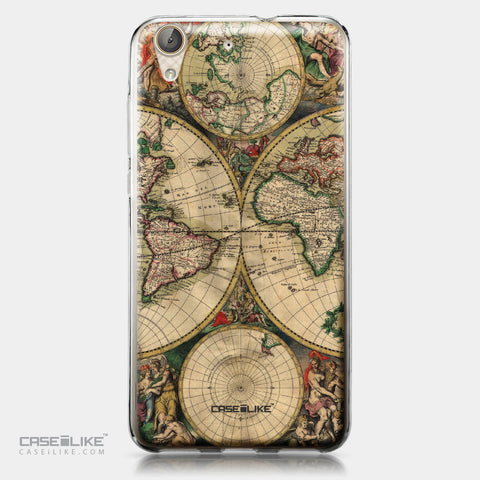 Huawei Y6 II / Honor Holly 3 case World Map Vintage 4607 | CASEiLIKE.com