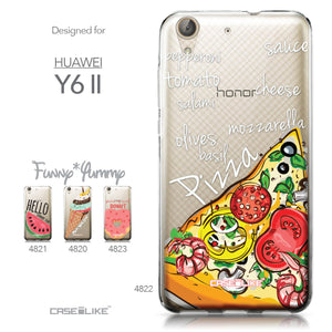 Huawei Y6 II / Honor Holly 3 case Pizza 4822 Collection | CASEiLIKE.com