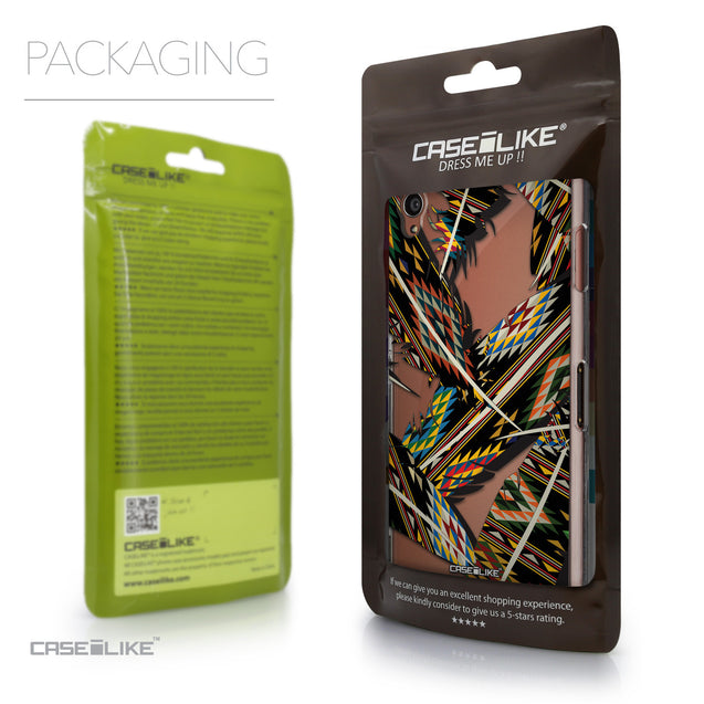 Packaging - CASEiLIKE Sony Xperia Z3 back cover Indian Tribal Theme Pattern 2053