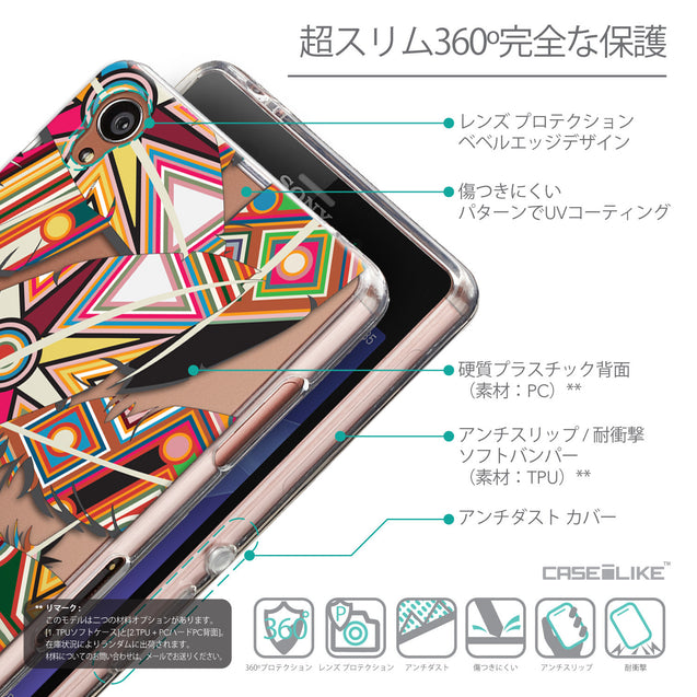 Details in Japanese - CASEiLIKE Sony Xperia Z3 back cover Indian Tribal Theme Pattern 2054