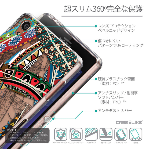 Details in Japanese - CASEiLIKE Sony Xperia Z3 back cover Indian Tribal Theme Pattern 2055