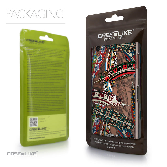 Packaging - CASEiLIKE Sony Xperia Z3 back cover Indian Tribal Theme Pattern 2055