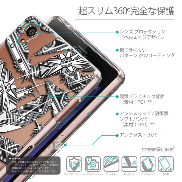Details in Japanese - CASEiLIKE Sony Xperia Z3 back cover Indian Tribal Theme Pattern 2056