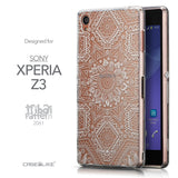 Front & Side View - CASEiLIKE Sony Xperia Z3 back cover Indian Line Art 2061