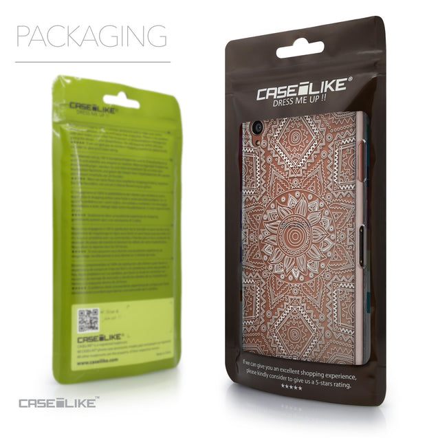 Packaging - CASEiLIKE Sony Xperia Z3 back cover Indian Line Art 2061