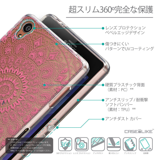 Details in Japanese - CASEiLIKE Sony Xperia Z3 back cover Indian Line Art 2062