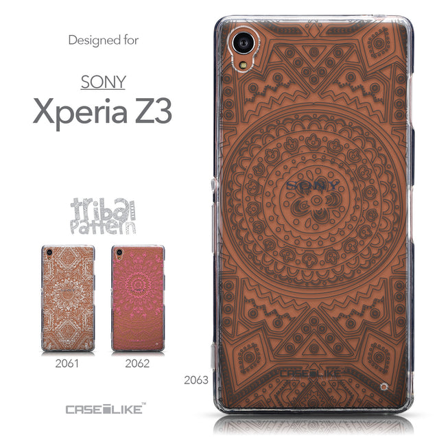 Collection - CASEiLIKE Sony Xperia Z3 back cover Indian Line Art 2063