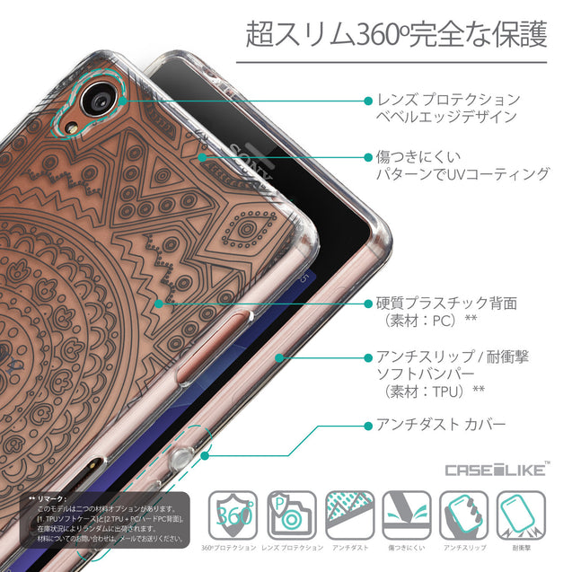 Details in Japanese - CASEiLIKE Sony Xperia Z3 back cover Indian Line Art 2063