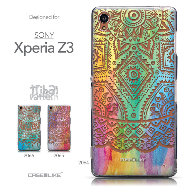 Collection - CASEiLIKE Sony Xperia Z3 back cover Indian Line Art 2064