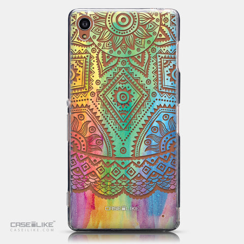 CASEiLIKE Sony Xperia Z3 back cover Indian Line Art 2064