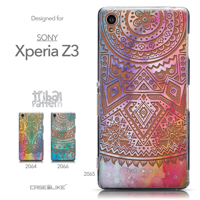 Collection - CASEiLIKE Sony Xperia Z3 back cover Indian Line Art 2065